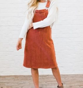 Ribbed overall dress